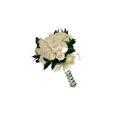 Bridal Bouquet Faux Flowers Beach Wedding Guava Coral Fuchsia